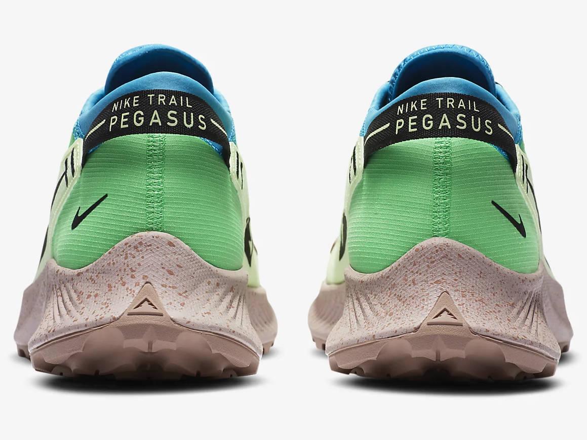 chaussure de running sur sentier pour homme nike pegasus trail 2 vert