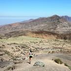 Caroline sur les hauteurs de Santo Antão