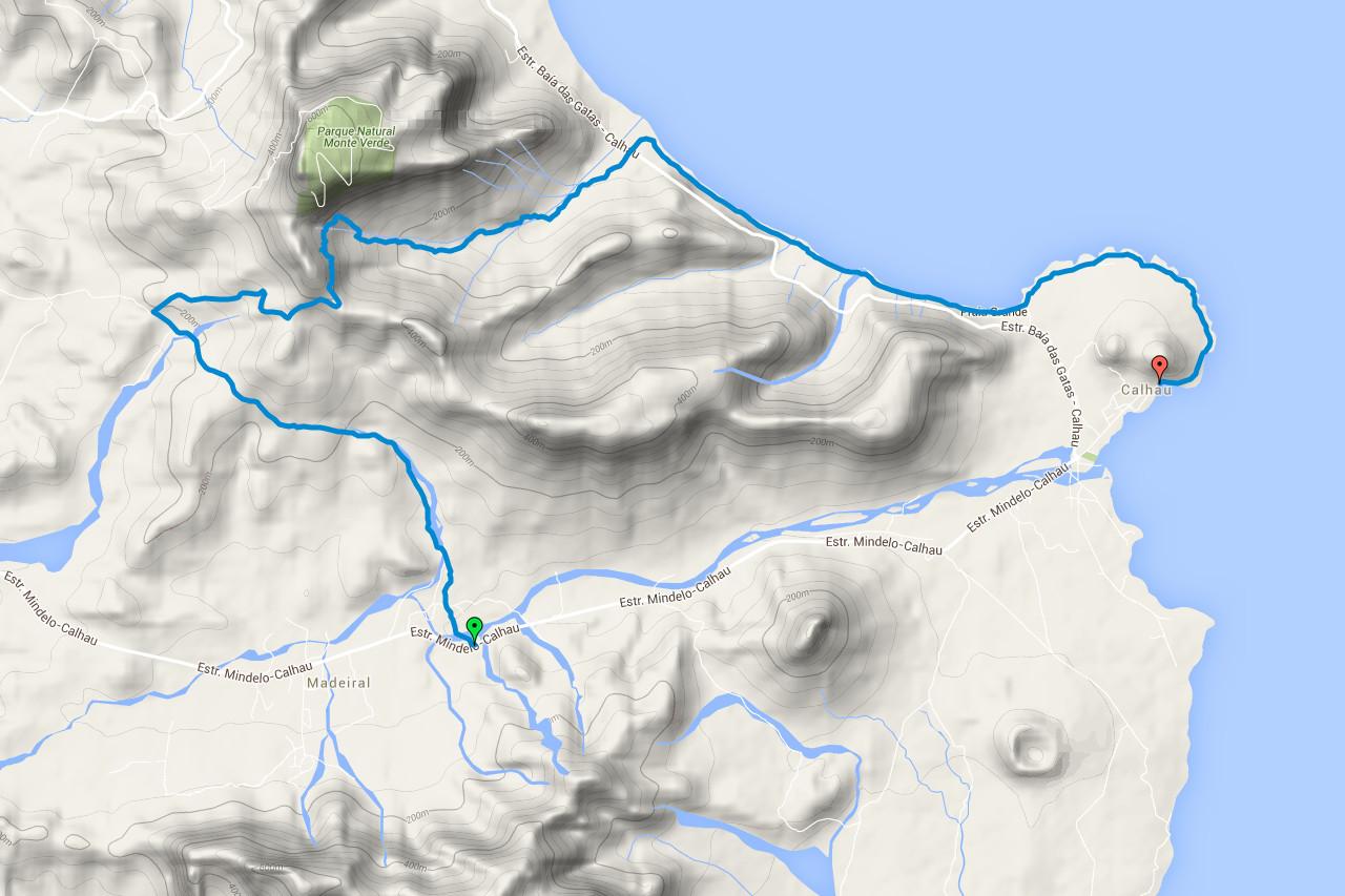 Trail à Sao Vicente