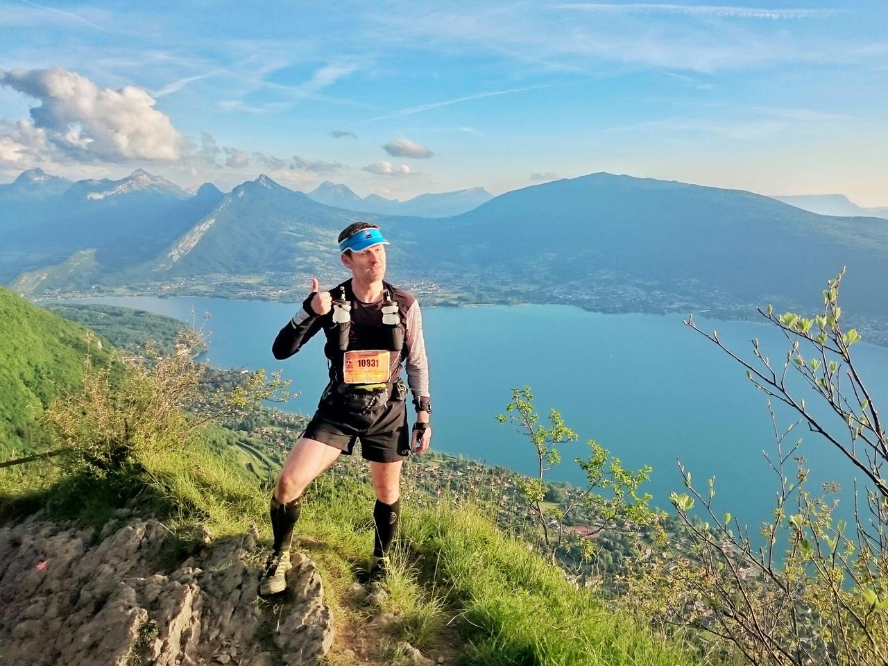 Vue sur Annecy en fin de course Maxirace