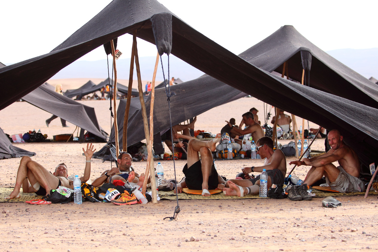 Le bivouac du Marathon des sables