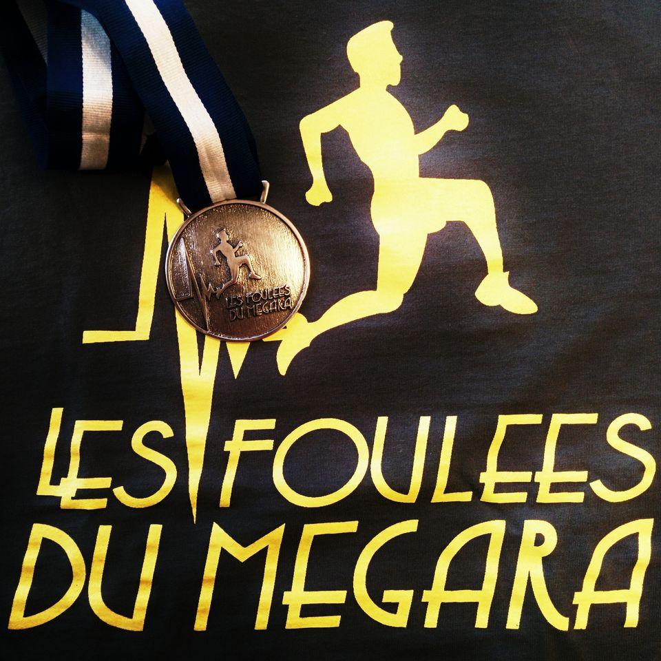 La médaille des foulées du Mégara