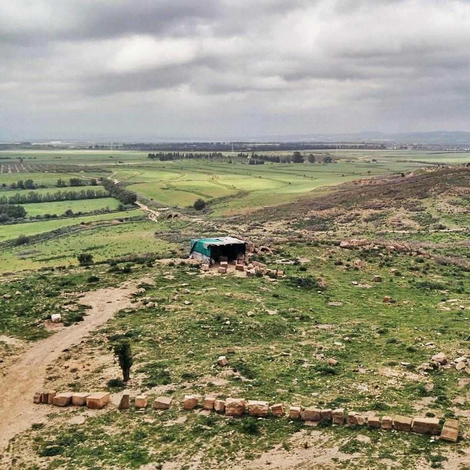 Vue sur la plaine d'Outna depuis le capitole d'Uthina