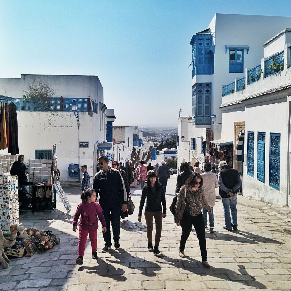 Visite de Sidi Bou Saïd en famille