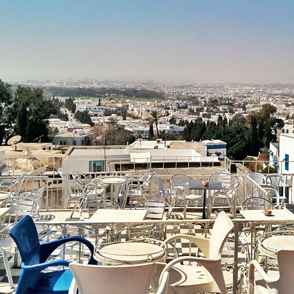 Vue sur Tunis depuis Sidi Bou Saïd