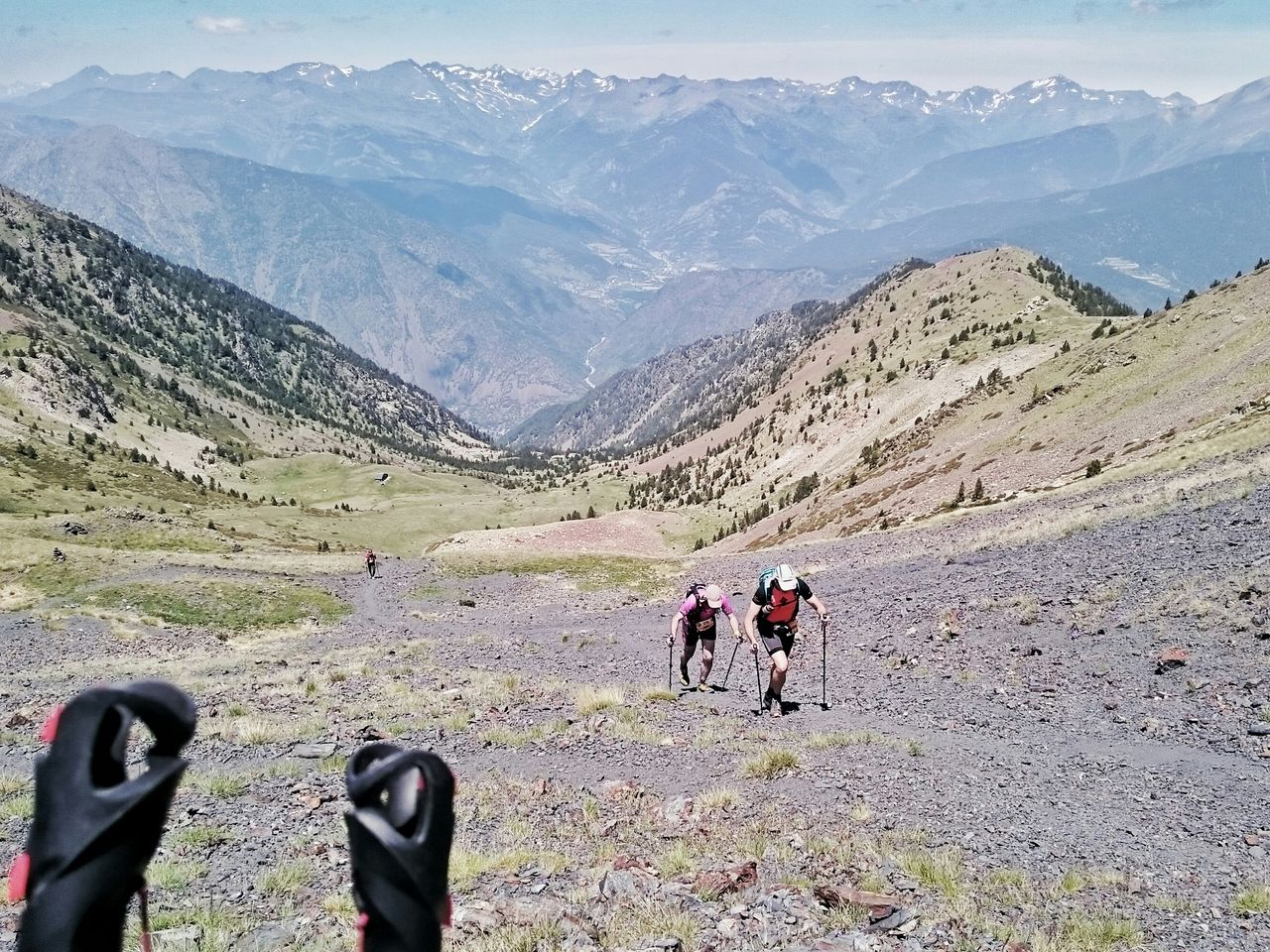 La montée vers le Coll de Bou Mort